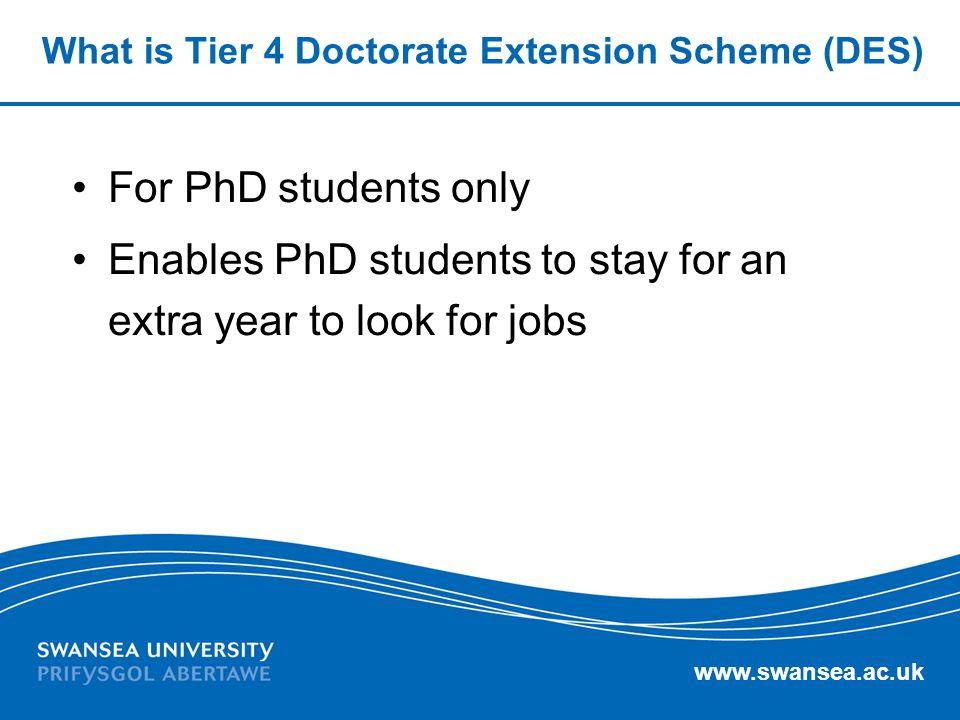 What is Tier 4 Doctorate Extension Scheme (DES)