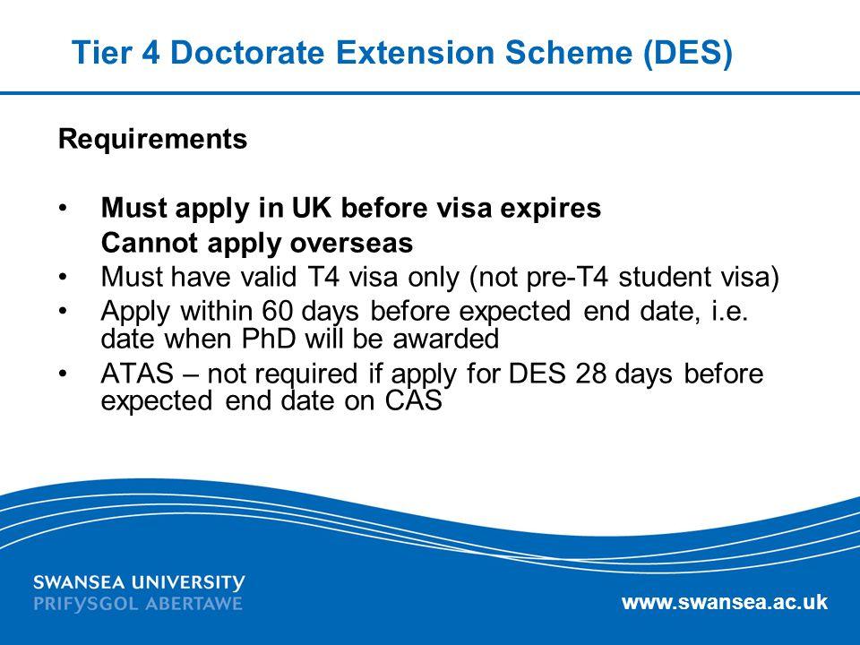 Tier 4 Doctorate Extension Scheme (DES)