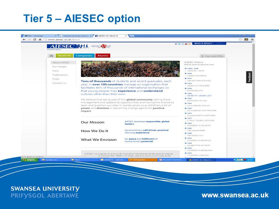 Tier 5 – AIESEC option