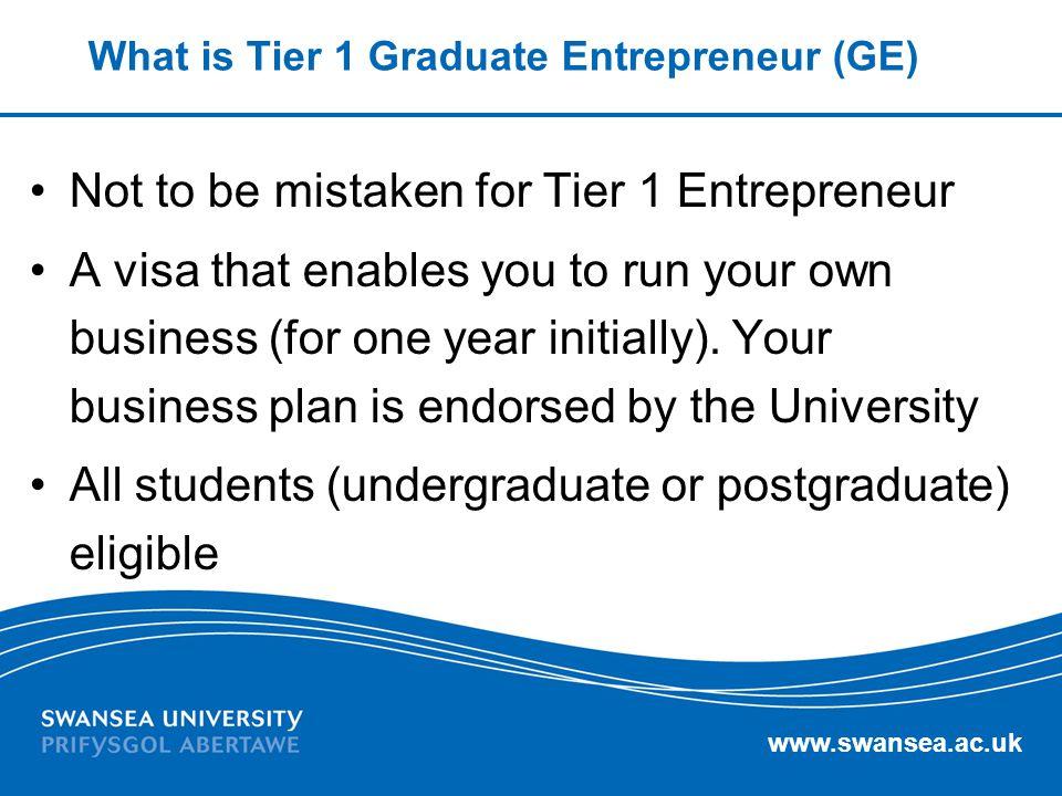 What is Tier 1 Graduate Entrepreneur (GE)
