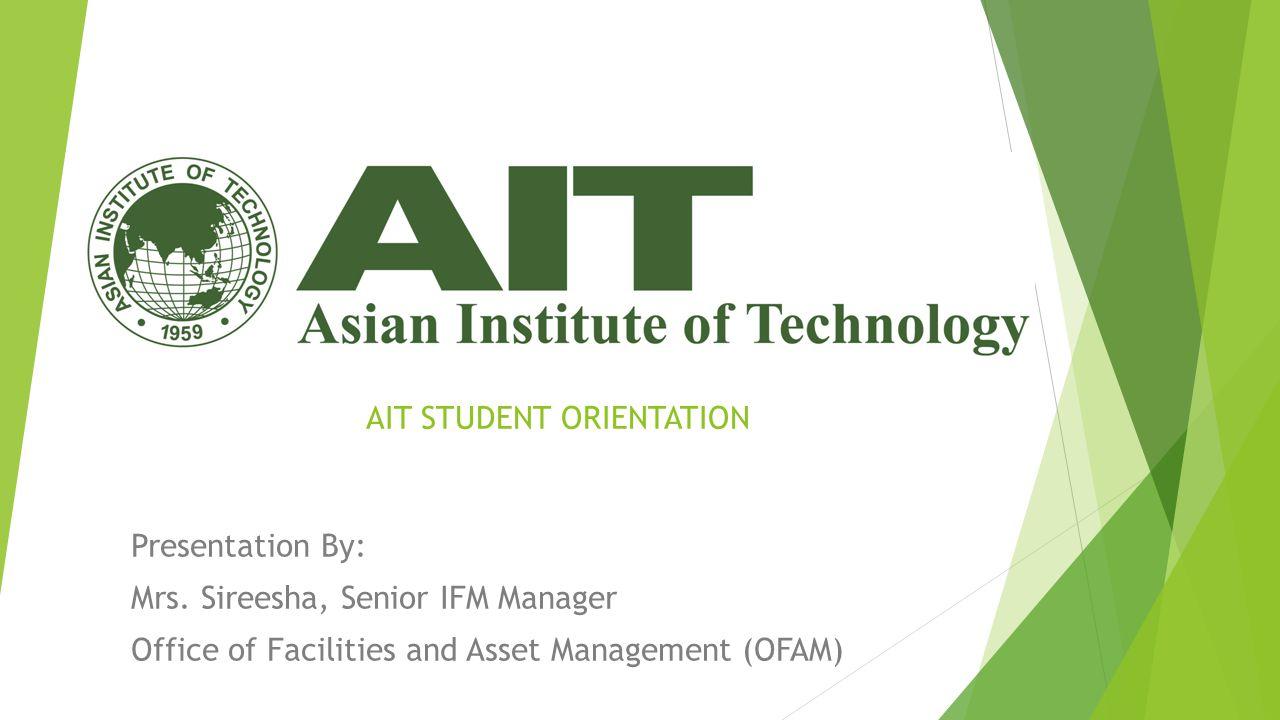 AIT STUDENT ORIENTATION