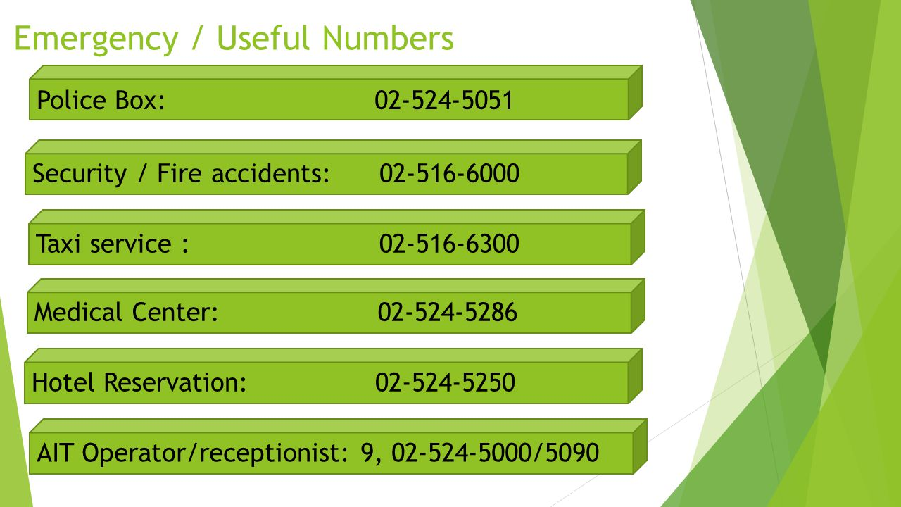 Emergency / Useful Numbers