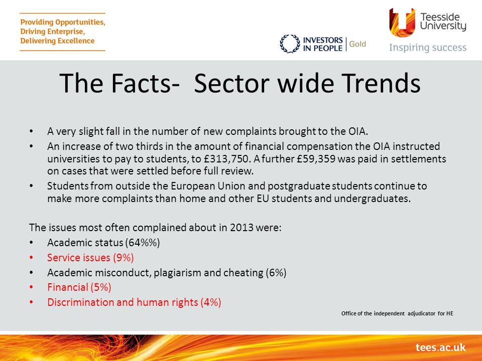 The Facts- Sector wide Trends