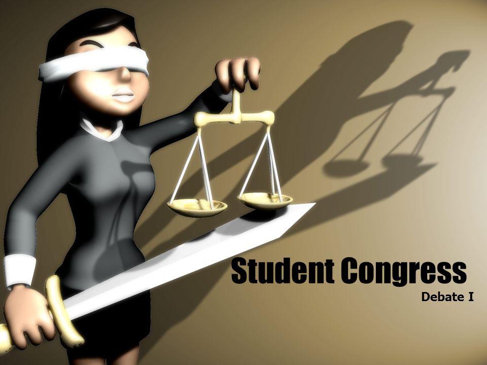 Student Congress Debate I
