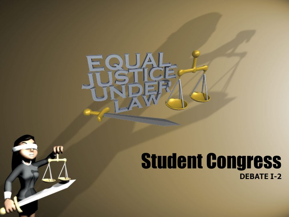 Student Congress DEBATE I-2