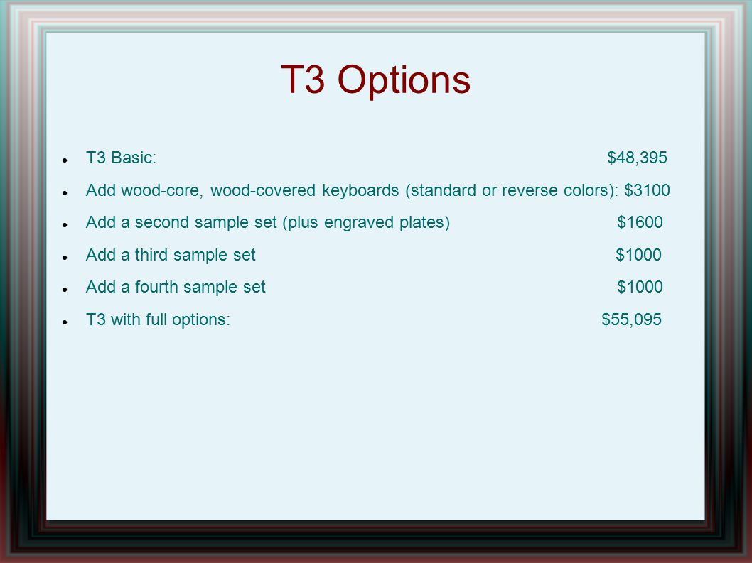 T3 Options T3 Basic: $48,395.