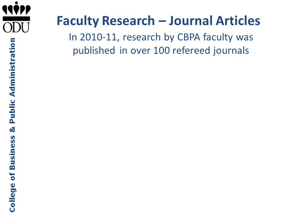 Faculty Research – Journal Articles