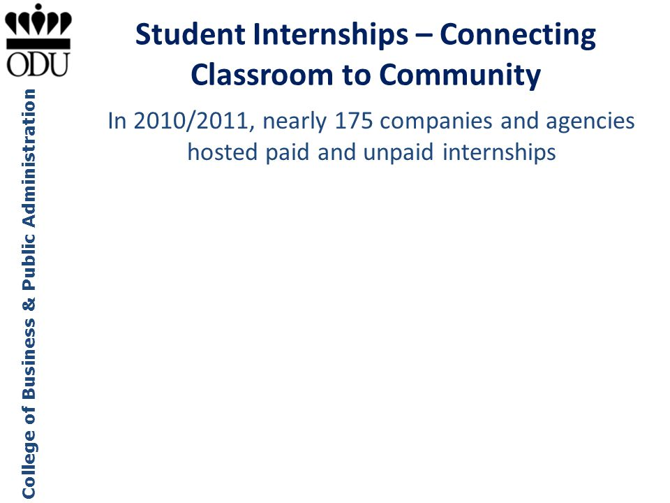 Student Internships – Connecting Classroom to Community