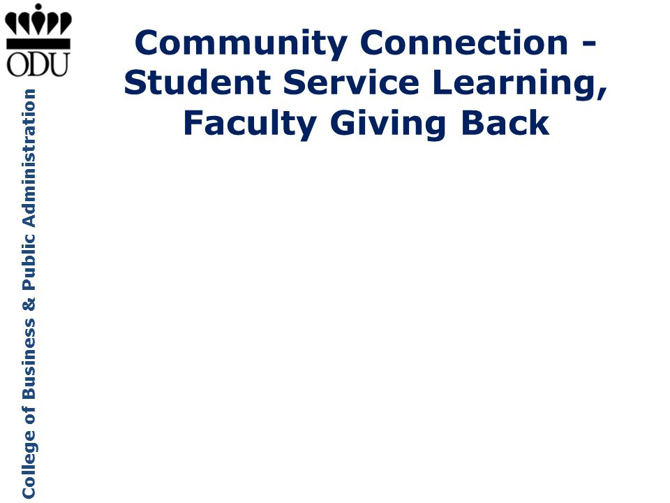 Community Connection -Student Service Learning,