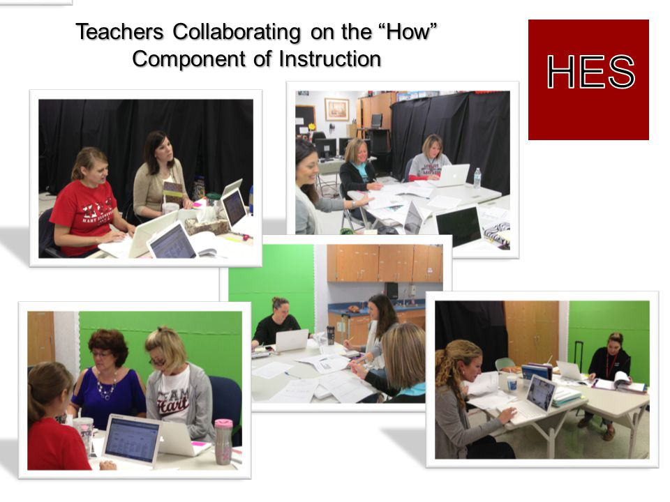 HES Teachers Collaborating on the How Component of Instruction
