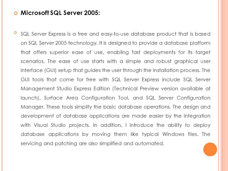 Microsoft SQL Server 2005: