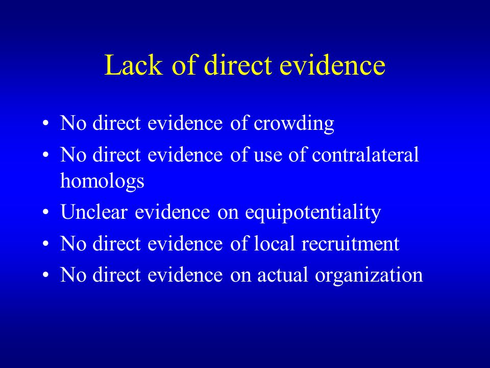 Lack of direct evidence