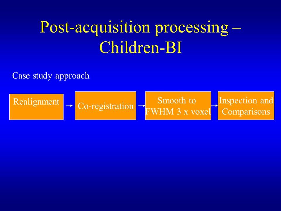 Post-acquisition processing – Children-BI