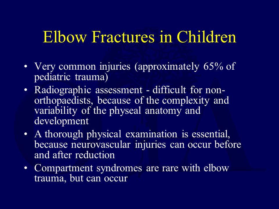 Elbow Fractures in Children