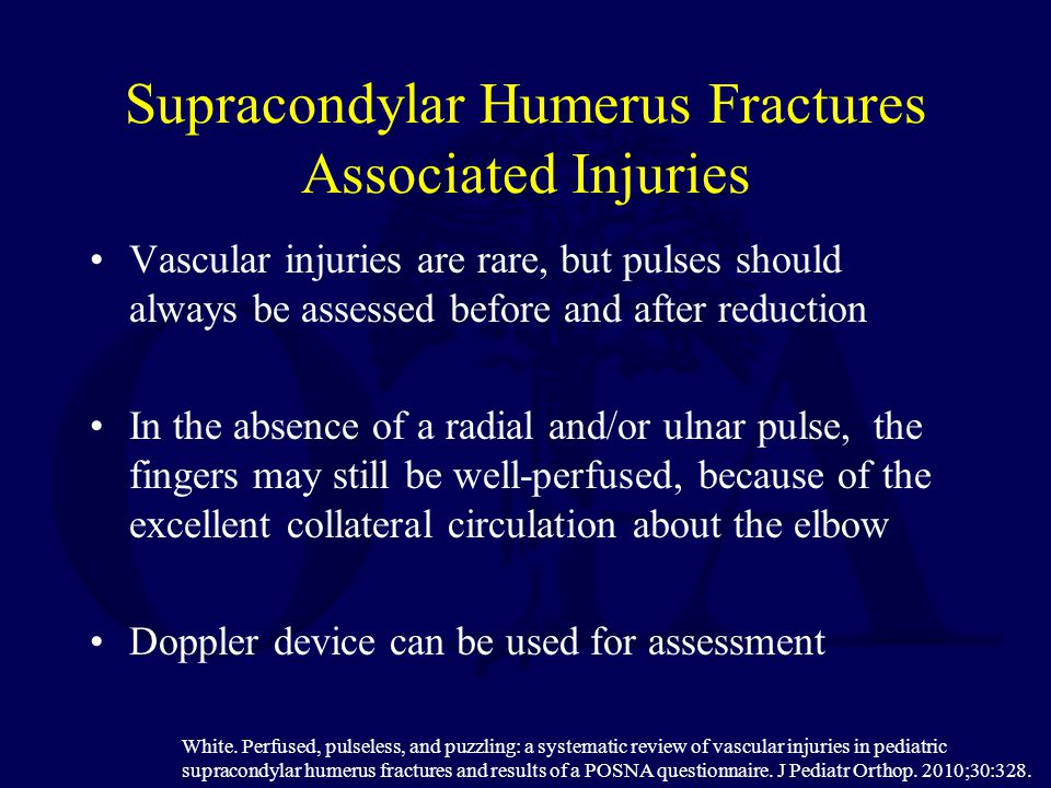 Supracondylar Humerus Fractures Associated Injuries