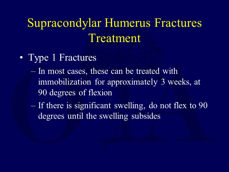 Supracondylar Humerus Fractures Treatment