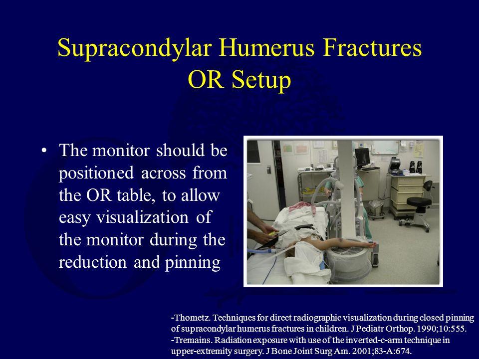 Supracondylar Humerus Fractures OR Setup