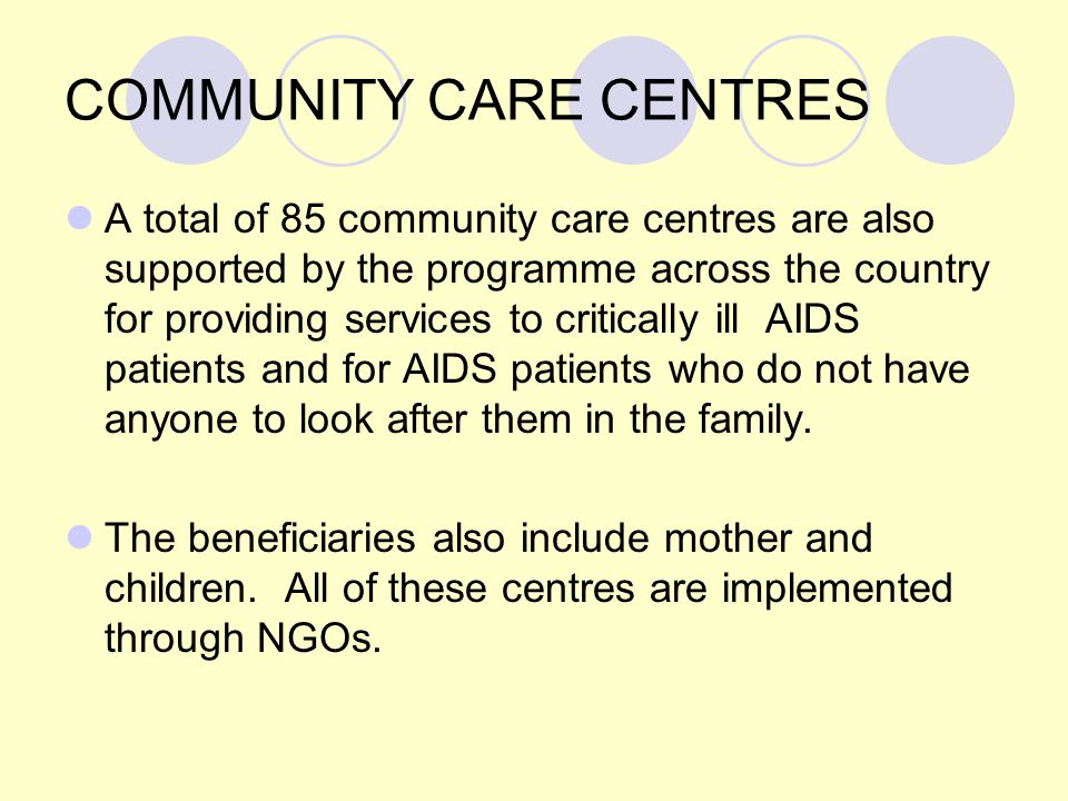 COMMUNITY CARE CENTRES