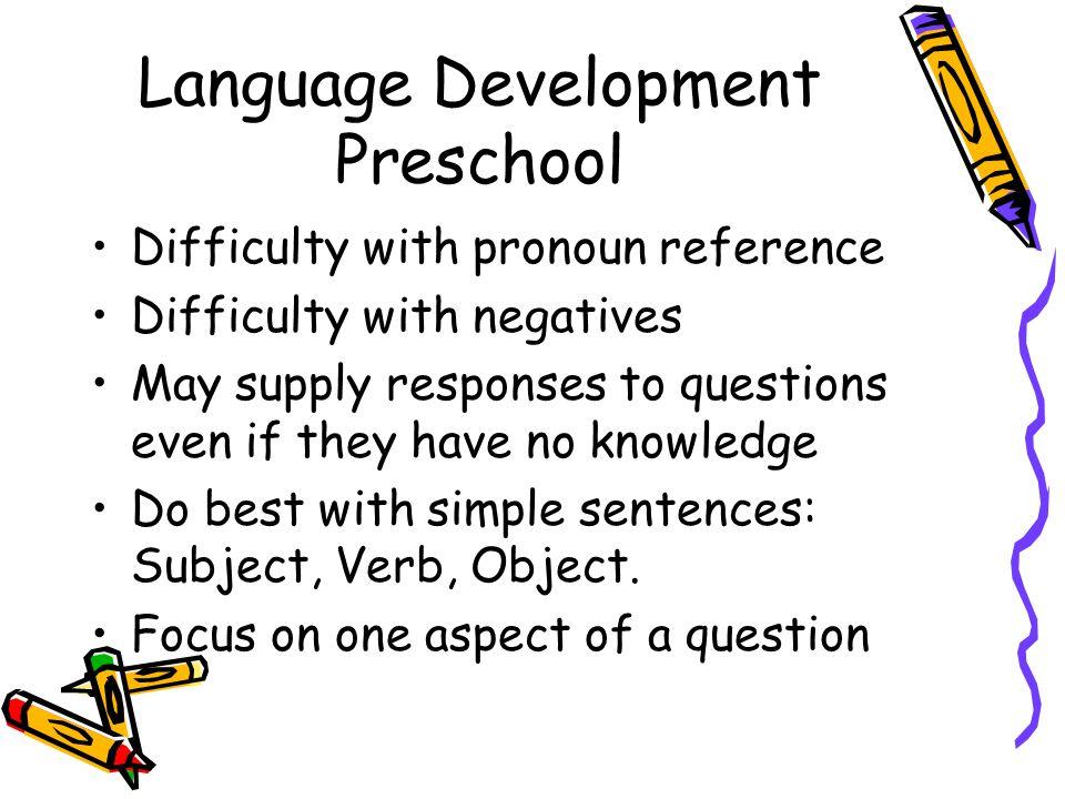 Language Development Preschool