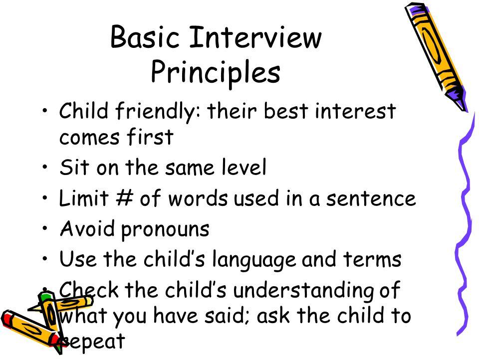 Basic Interview Principles