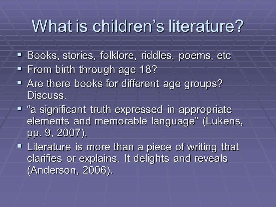What is children's literature