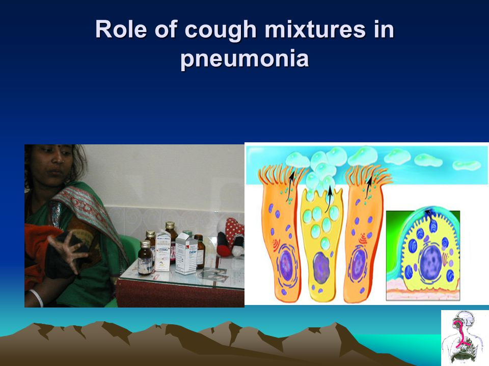 Role of cough mixtures in pneumonia