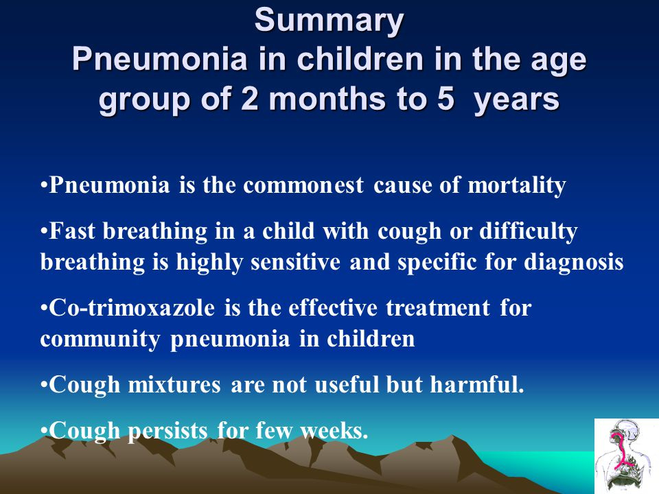 Summary Pneumonia in children in the age group of 2 months to 5 years