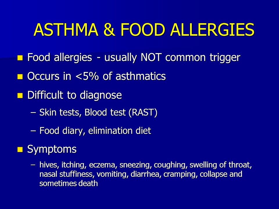 ASTHMA & FOOD ALLERGIES