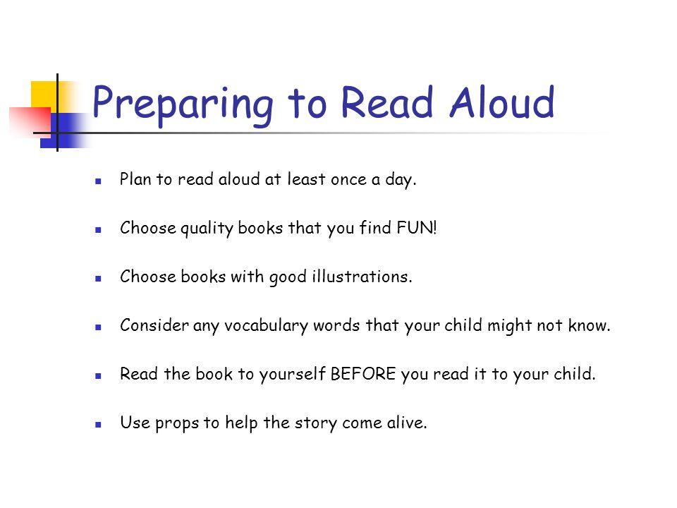 Preparing to Read Aloud