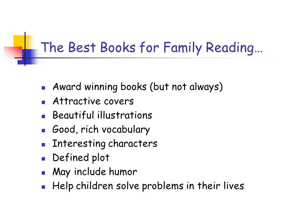 The Best Books for Family Reading…