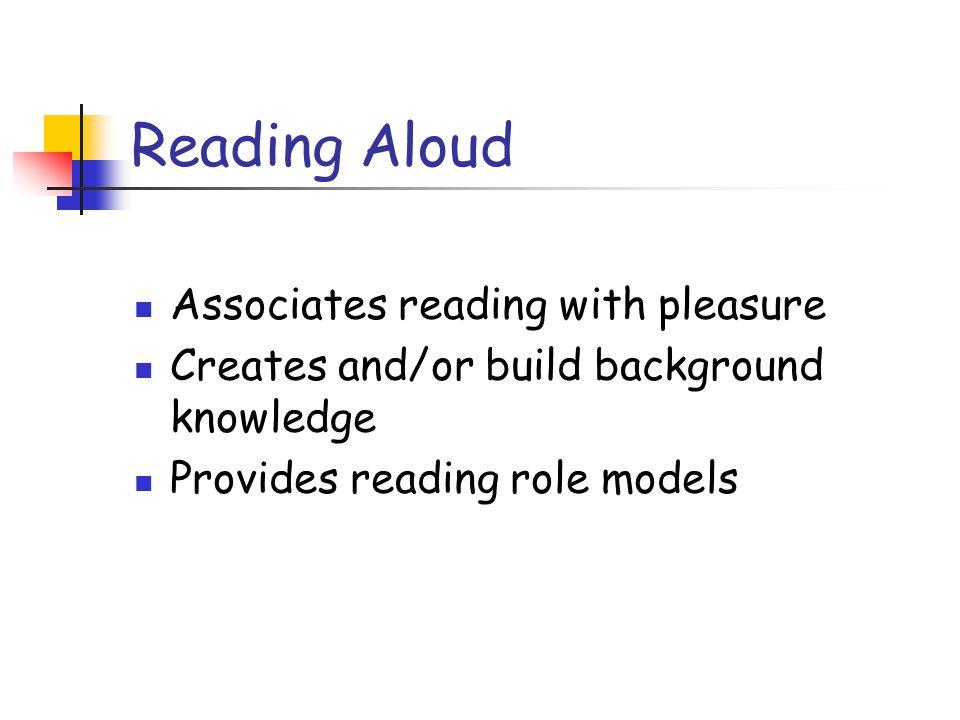 Reading Aloud Associates reading with pleasure