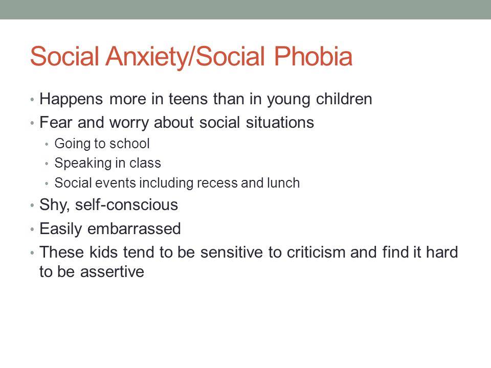 Social Anxiety/Social Phobia