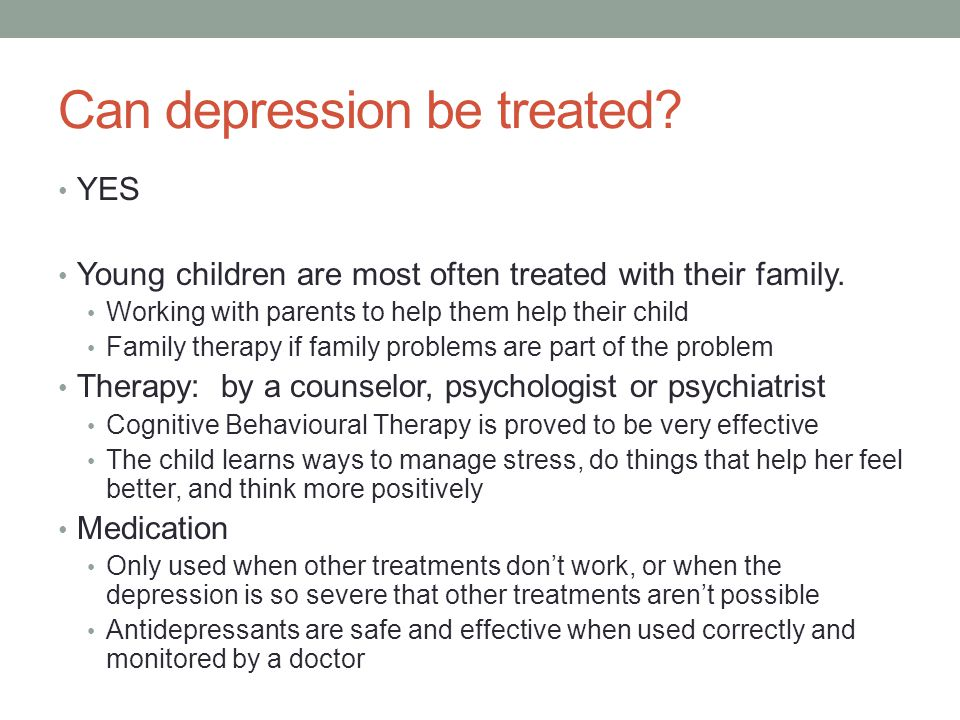 Can depression be treated