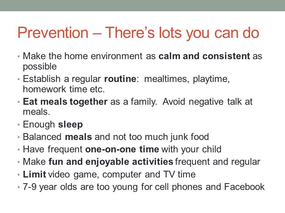 Prevention – There's lots you can do