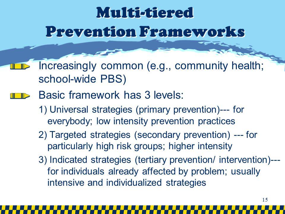 Multi-tiered Prevention Frameworks