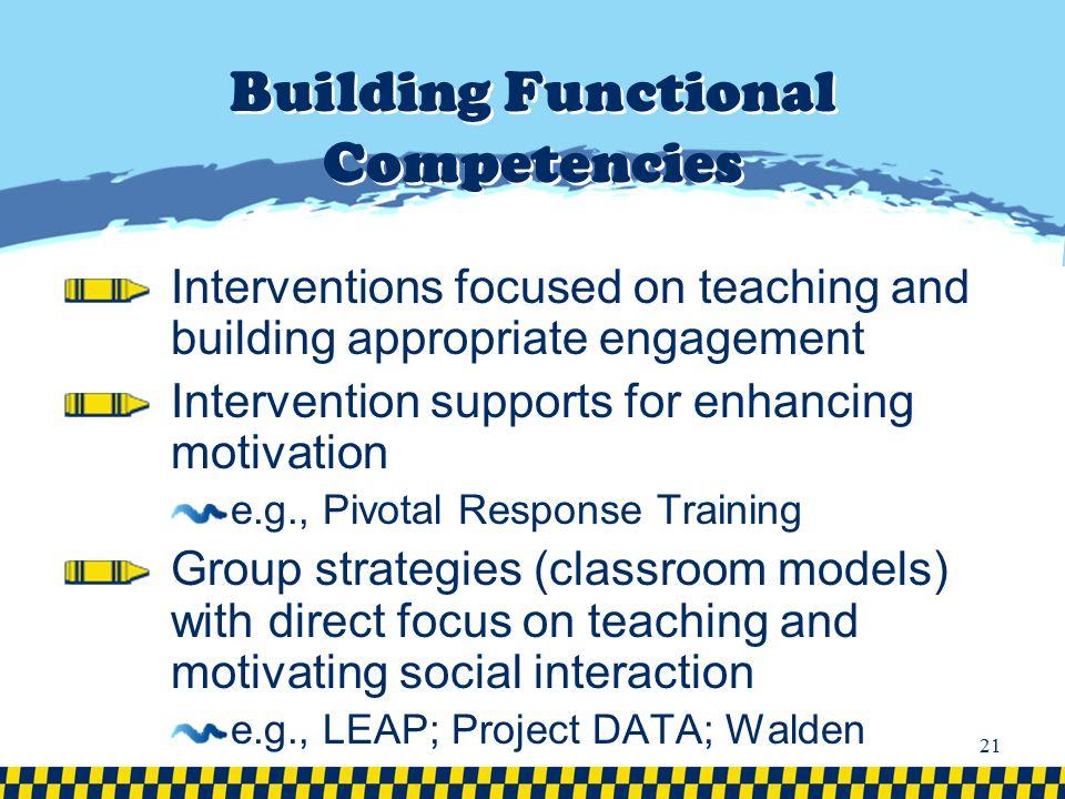 Building Functional Competencies