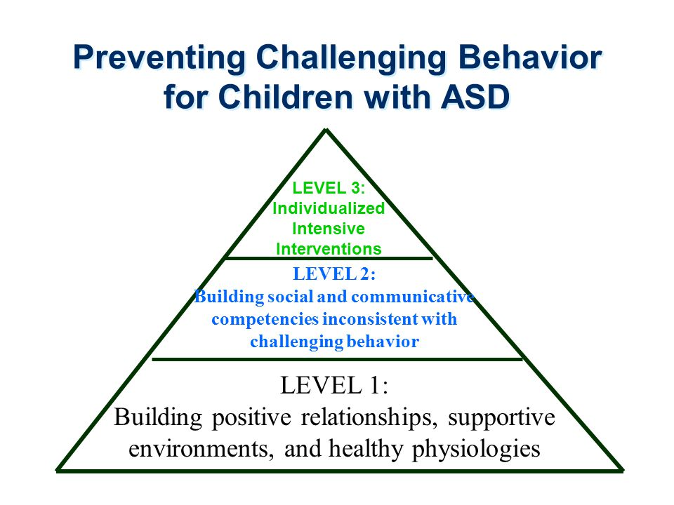 Preventing Challenging Behavior for Children with ASD