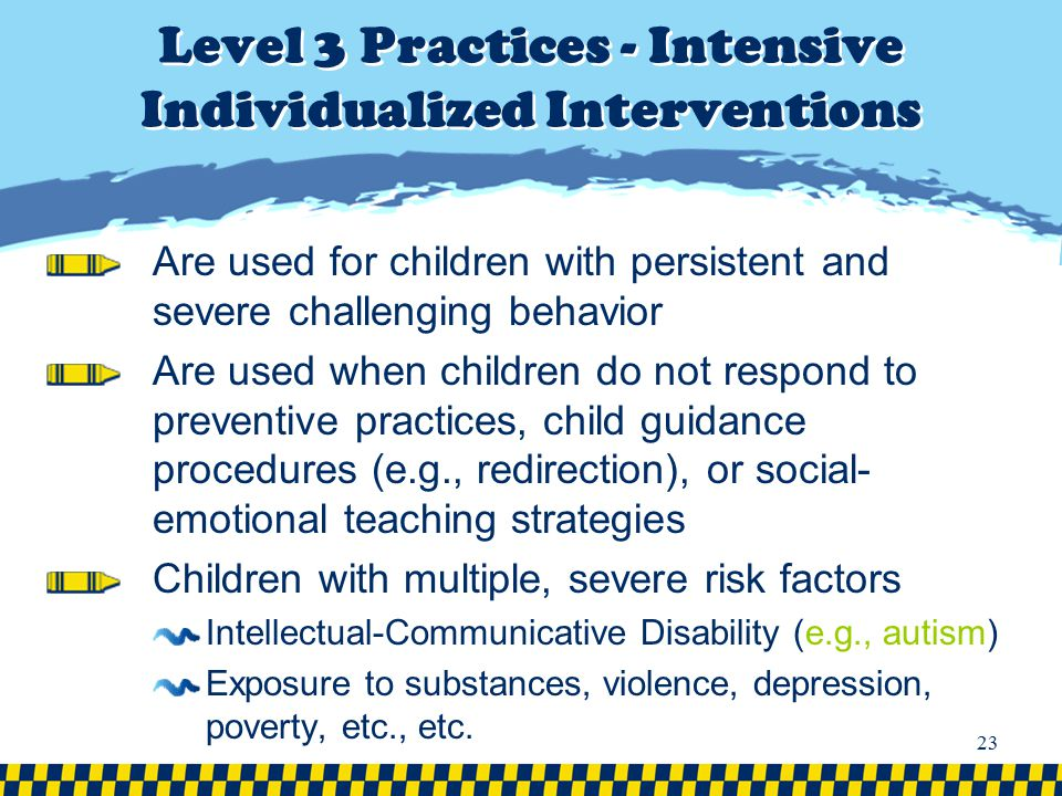 Level 3 Practices - Intensive Individualized Interventions