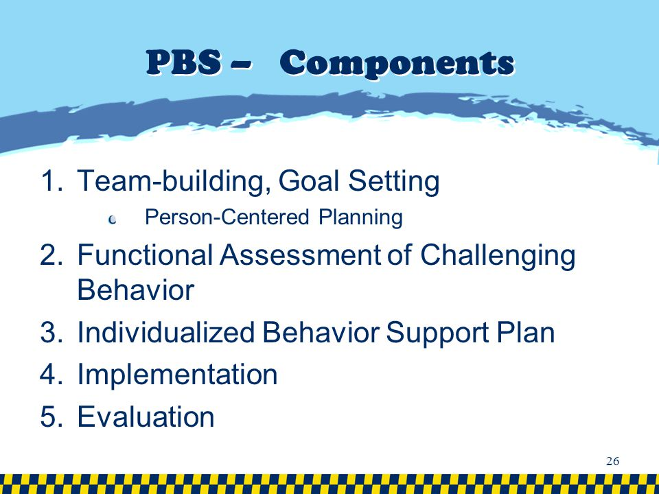 PBS – Components Team-building, Goal Setting