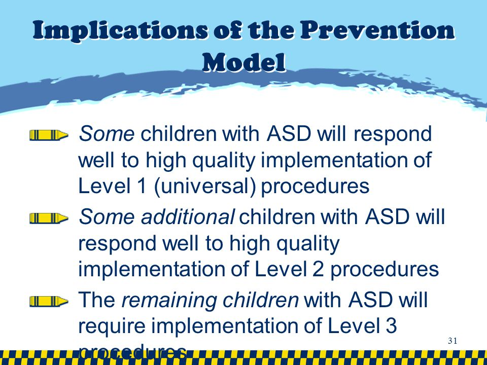 Implications of the Prevention Model
