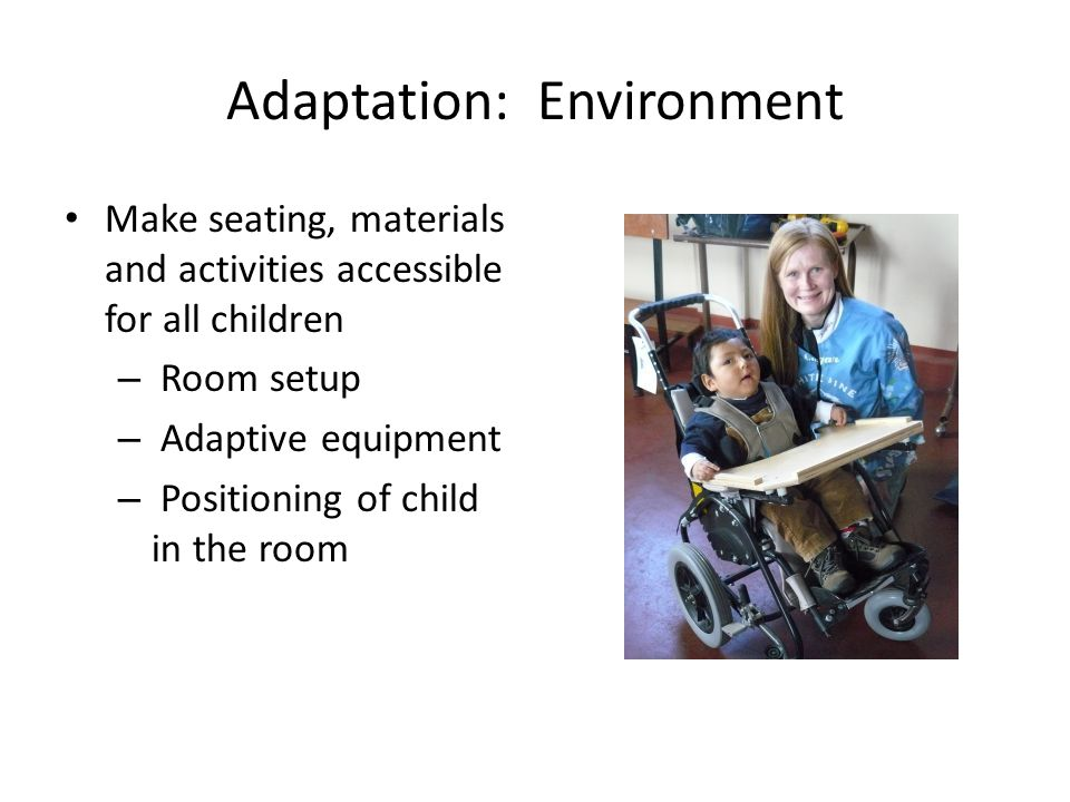 Adaptation: Environment