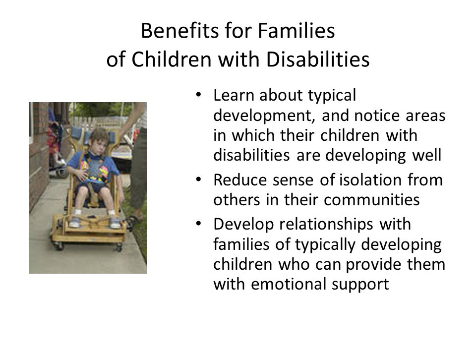 Benefits for Families of Children with Disabilities