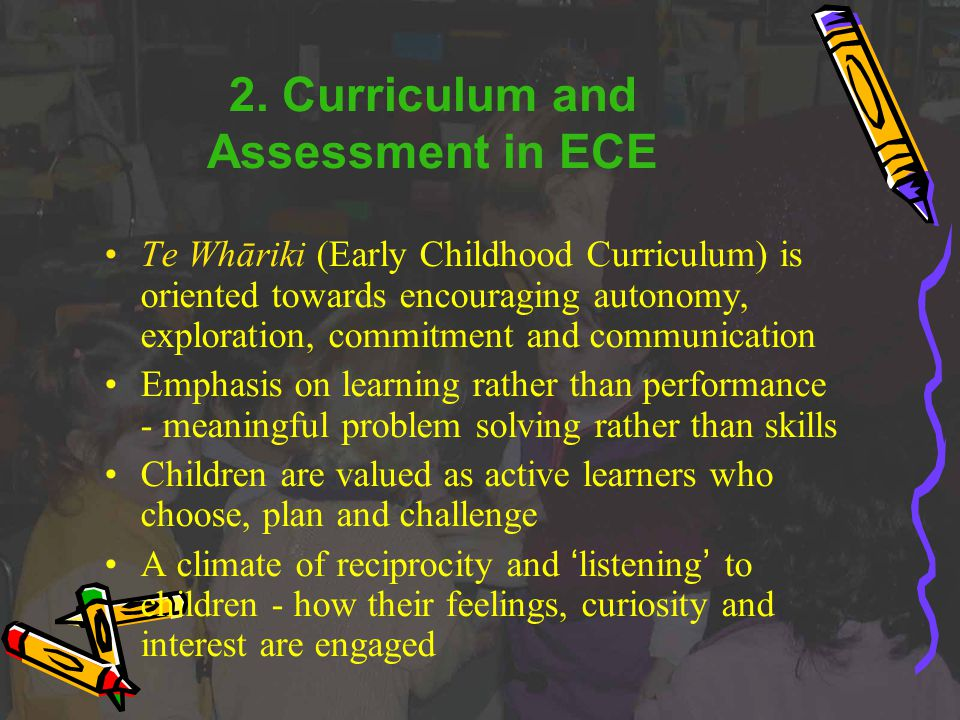 2. Curriculum and Assessment in ECE