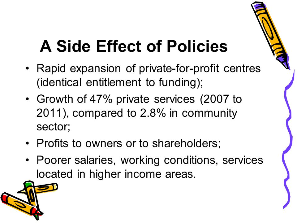 A Side Effect of Policies