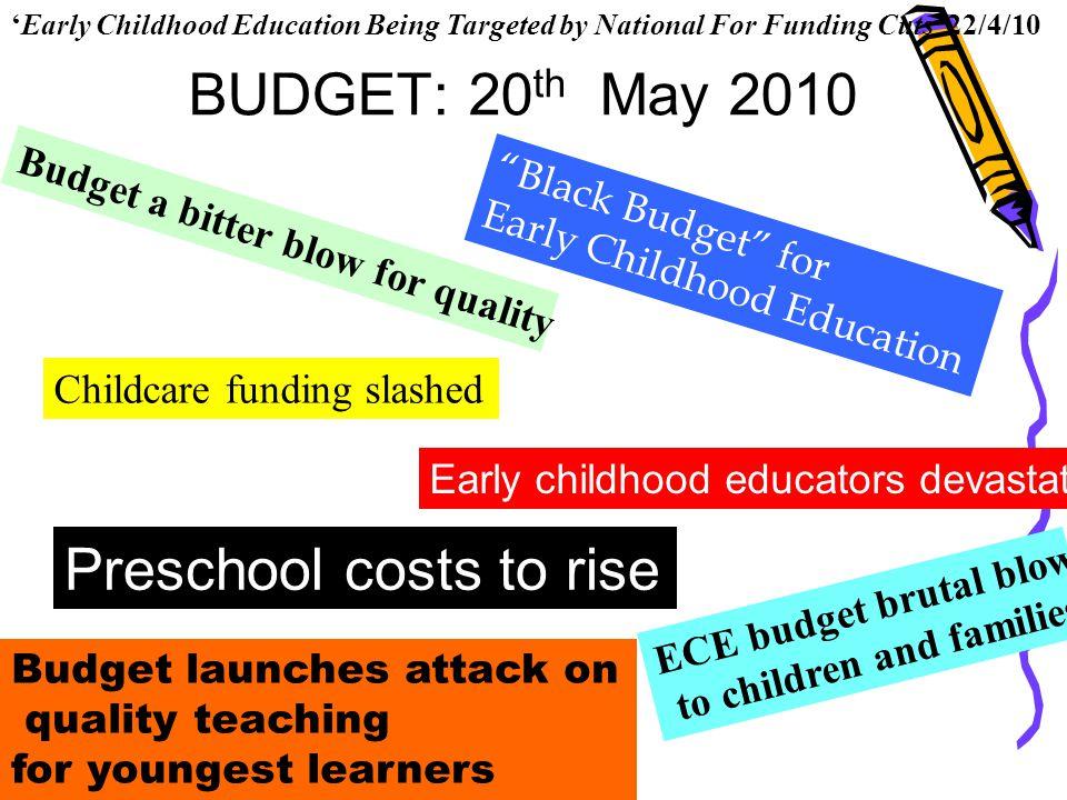 Preschool costs to rise