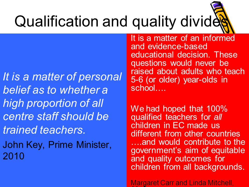 Qualification and quality divides