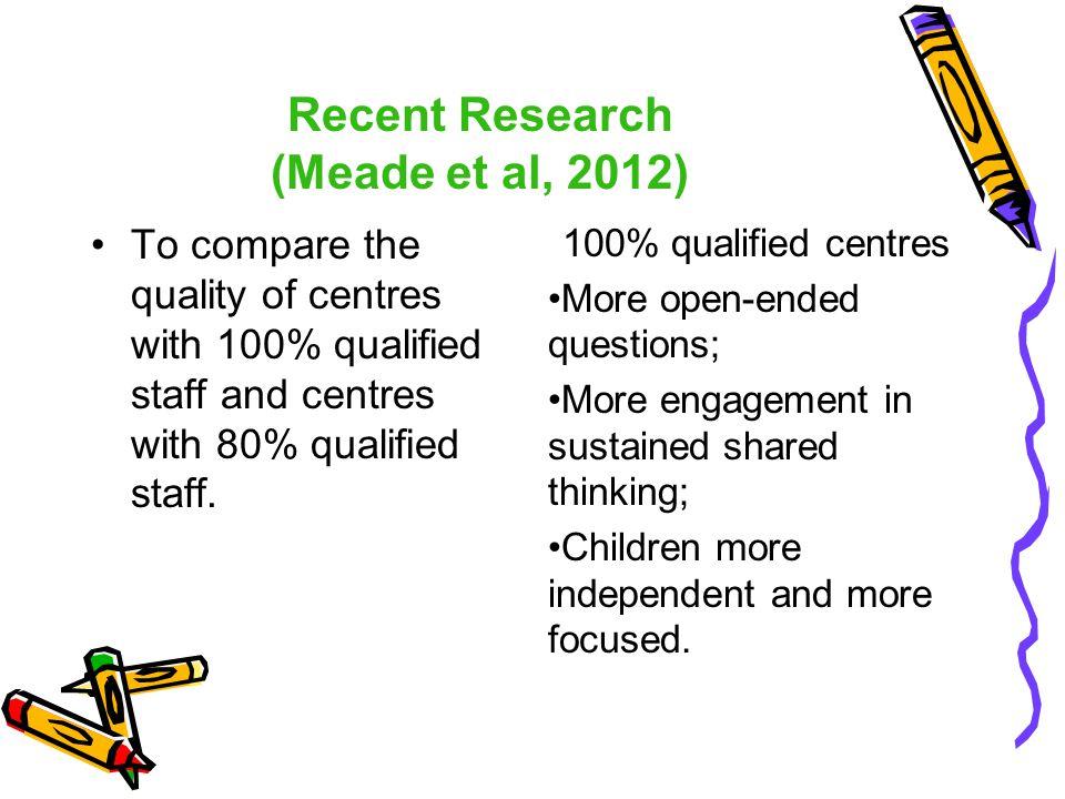 Recent Research (Meade et al, 2012)