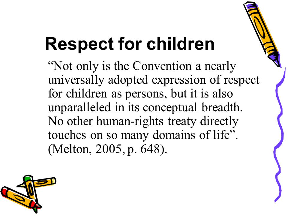 Respect for children