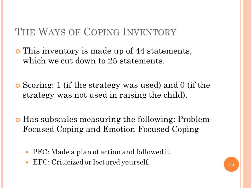 The Ways of Coping Inventory