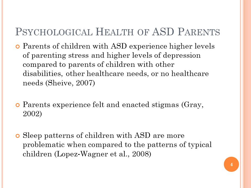Psychological Health of ASD Parents